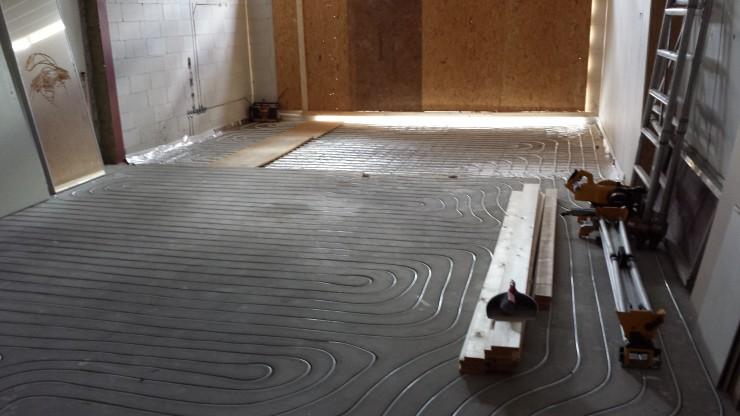 Aanleg vloerverwarming